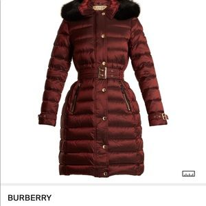 Burberry London belted Down coat NEW